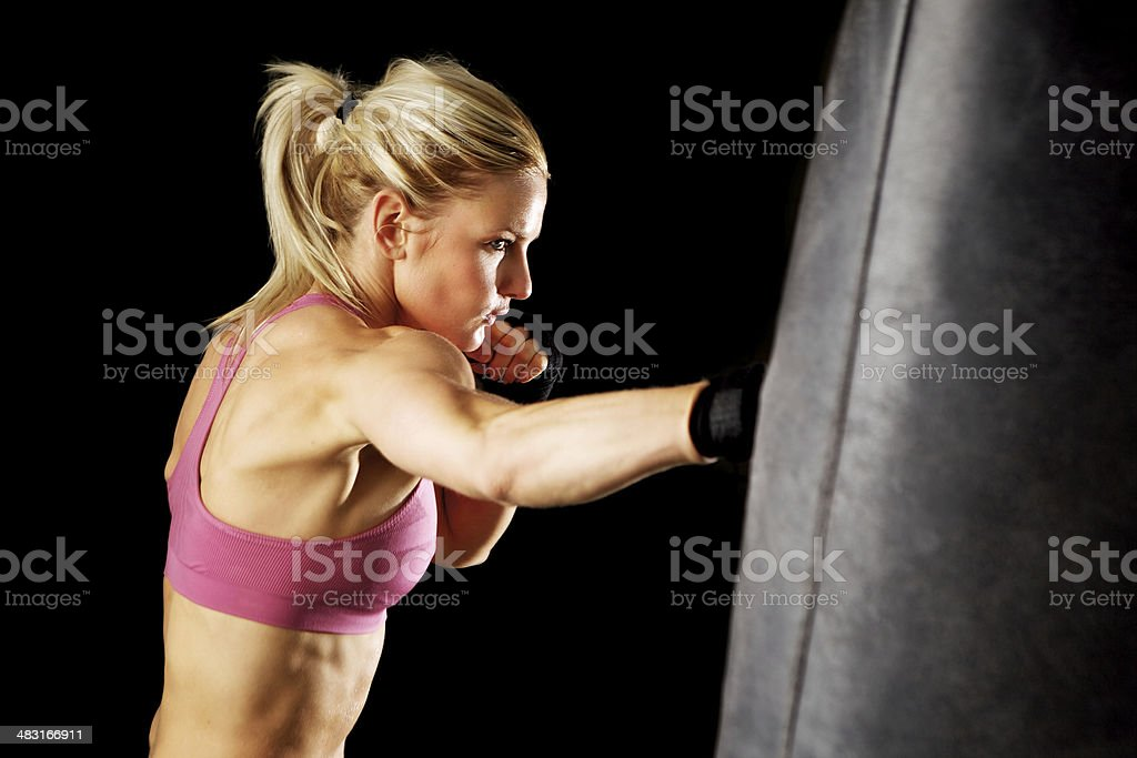 Punching Bag Punch stock photo