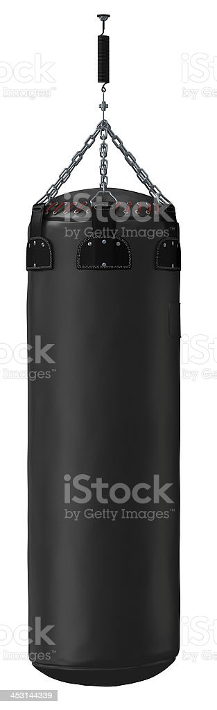 Punching bags stock photo