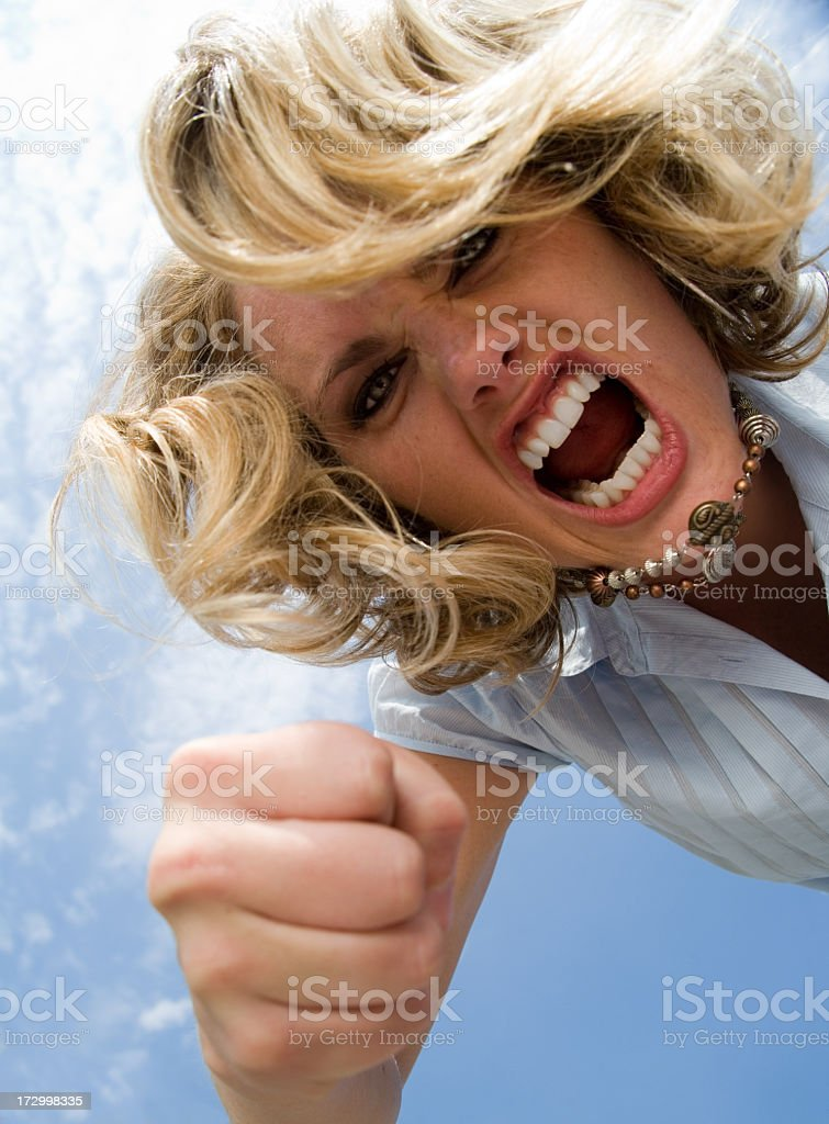 Punching Bully royalty-free stock photo