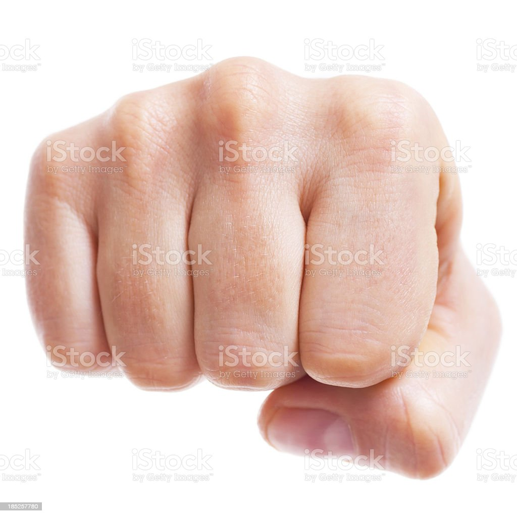 Punching Fist royalty-free stock photo