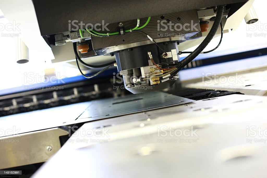 Punching machinery stock photo