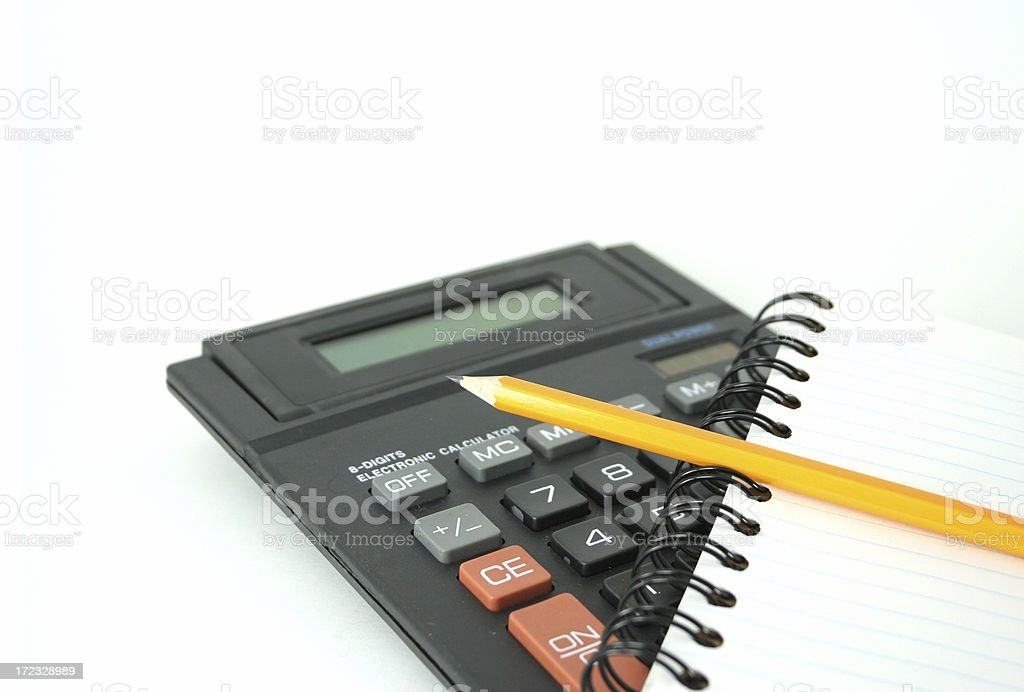 Punching numbers royalty-free stock photo