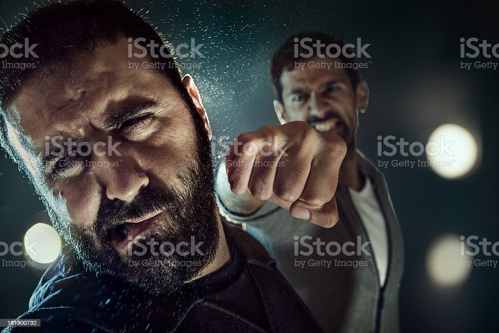 Punching stock photo