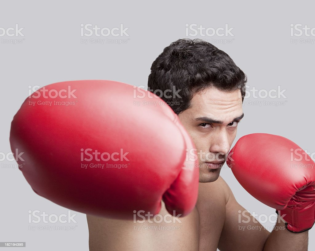 Punching royalty-free stock photo
