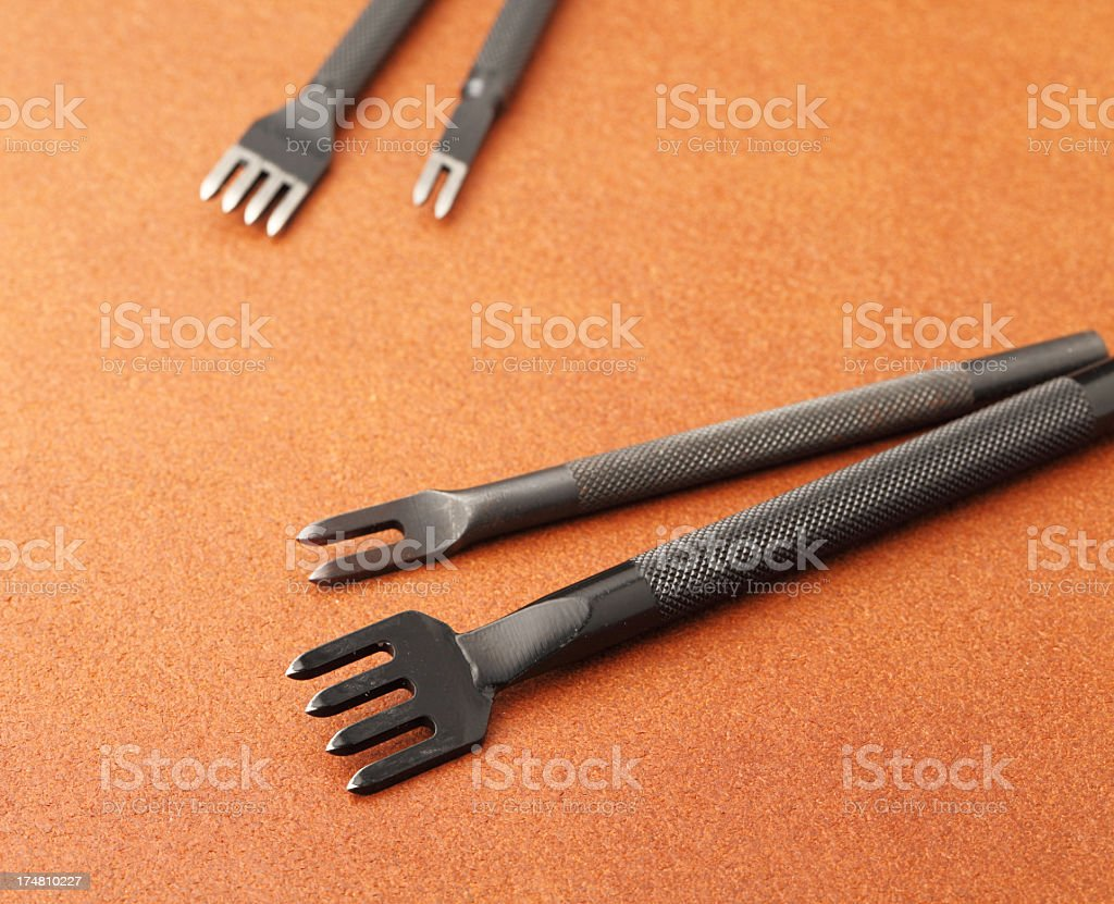 punching tools of leather craft royalty-free stock photo