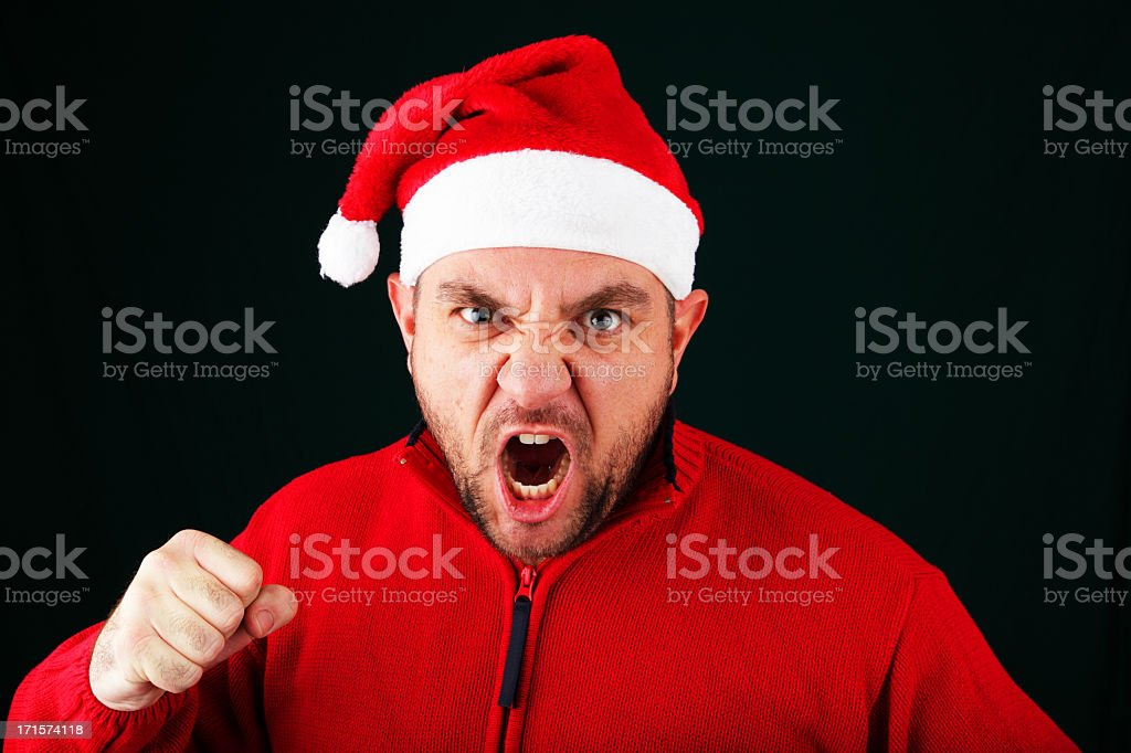Punchy Santa royalty-free stock photo