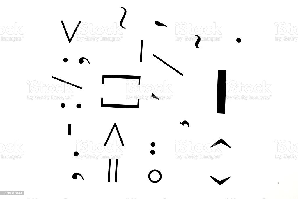 Punctuation marks stock photo