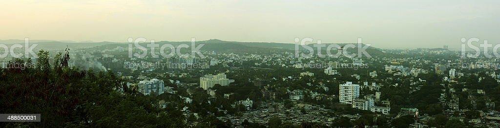 Pune city skyline stock photo