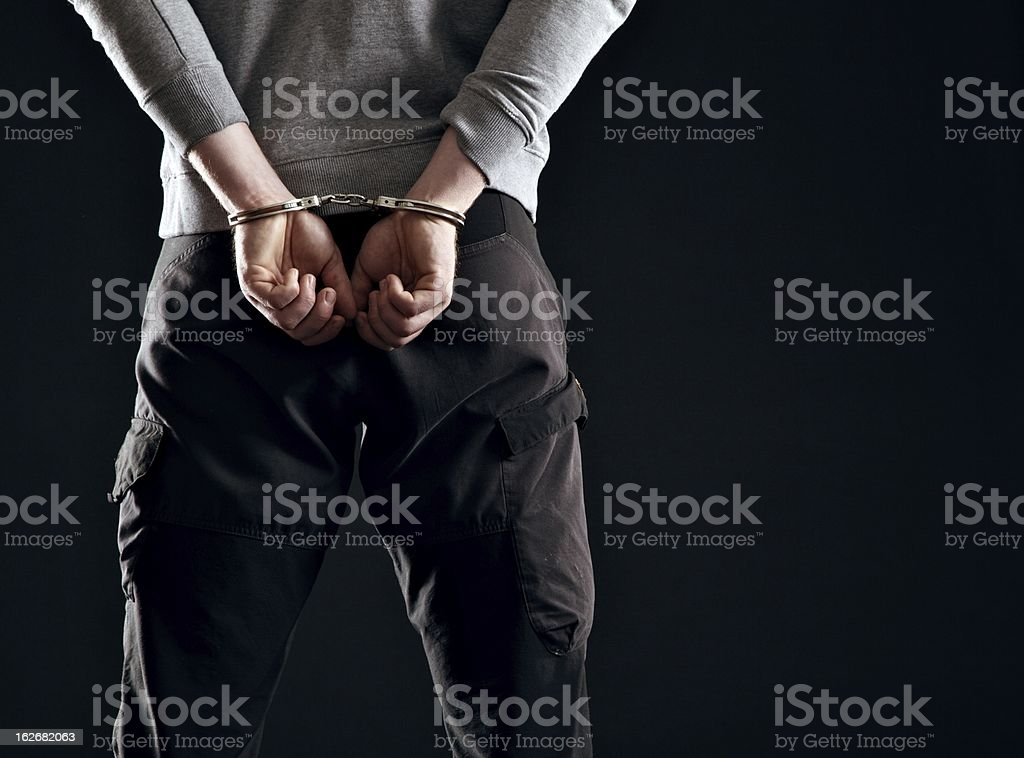 Punishment for His Crime stock photo