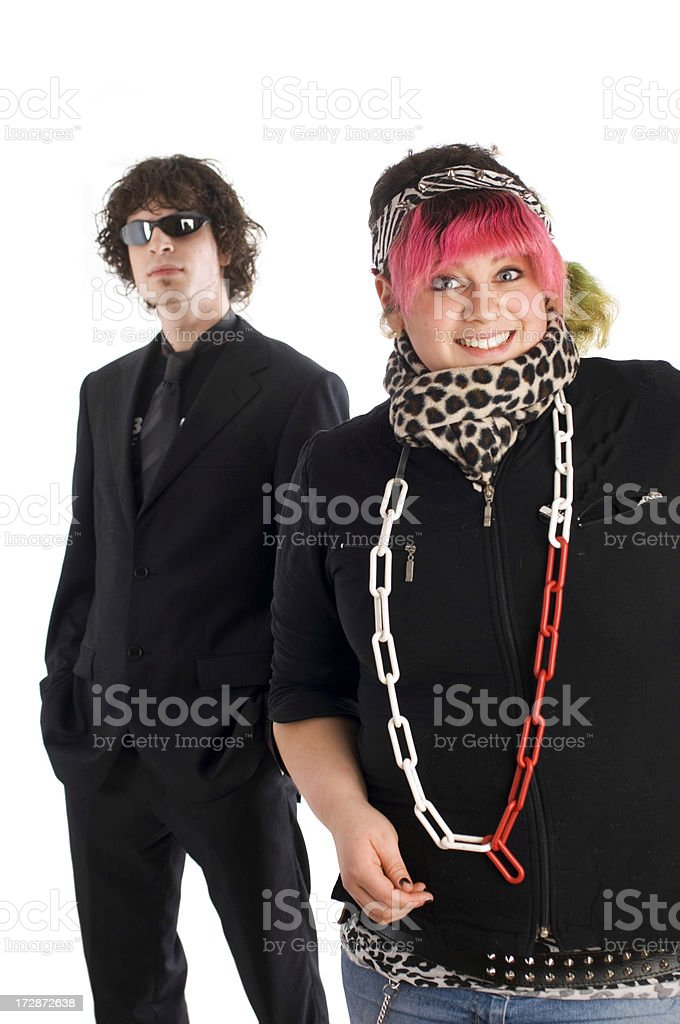 Punk and business man royalty-free stock photo
