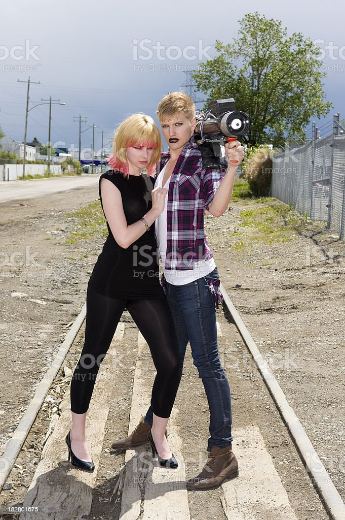 Punk Bonnie and Clyde stock photo