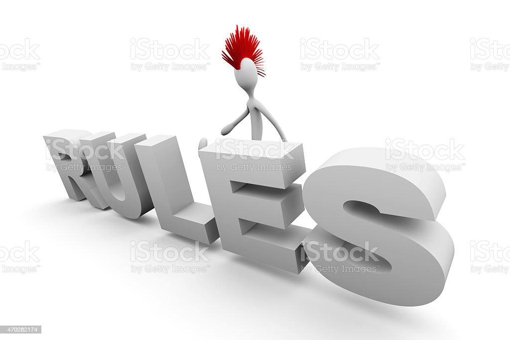 Punk breaking the Rules stock photo