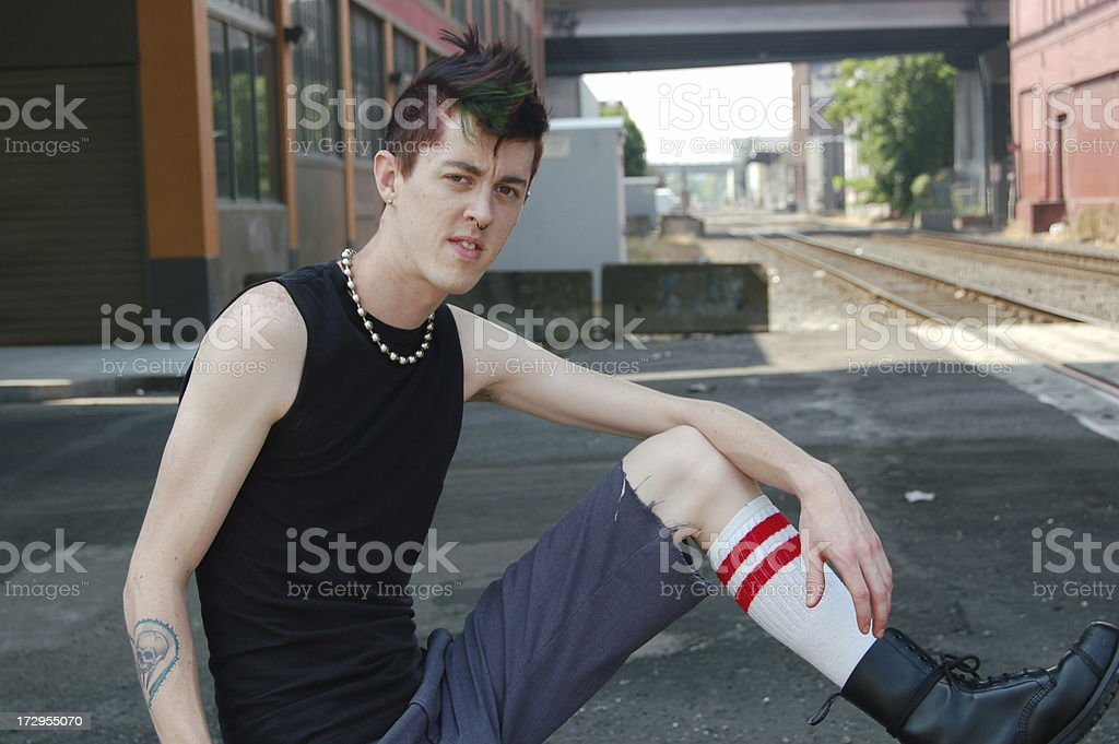 Punk by Track stock photo