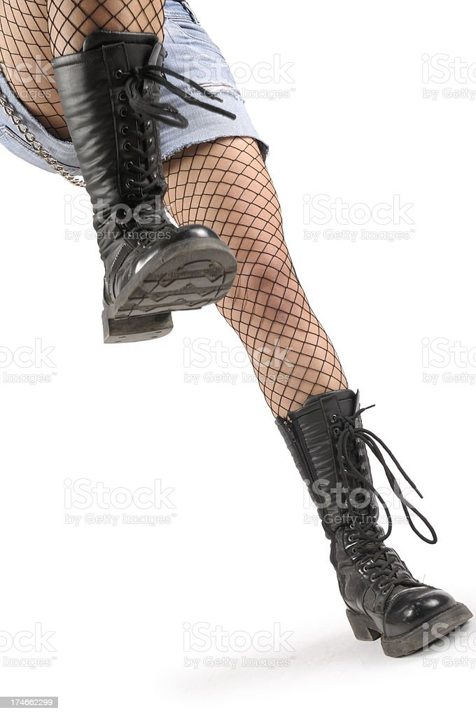 Punk Girl Marching royalty-free stock photo