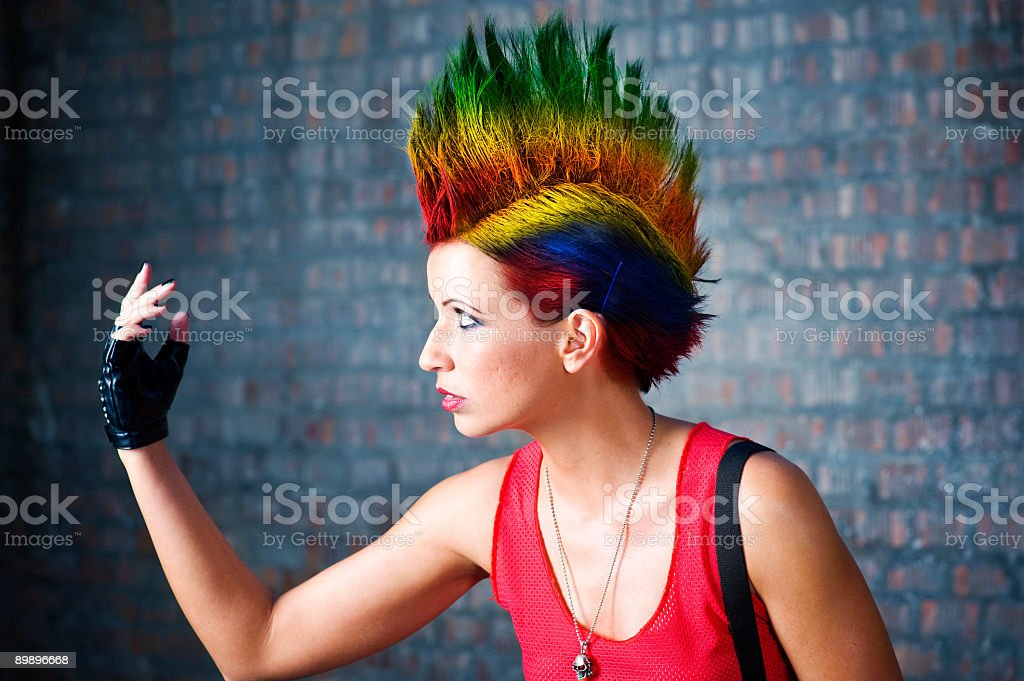 Punk girl royalty-free stock photo