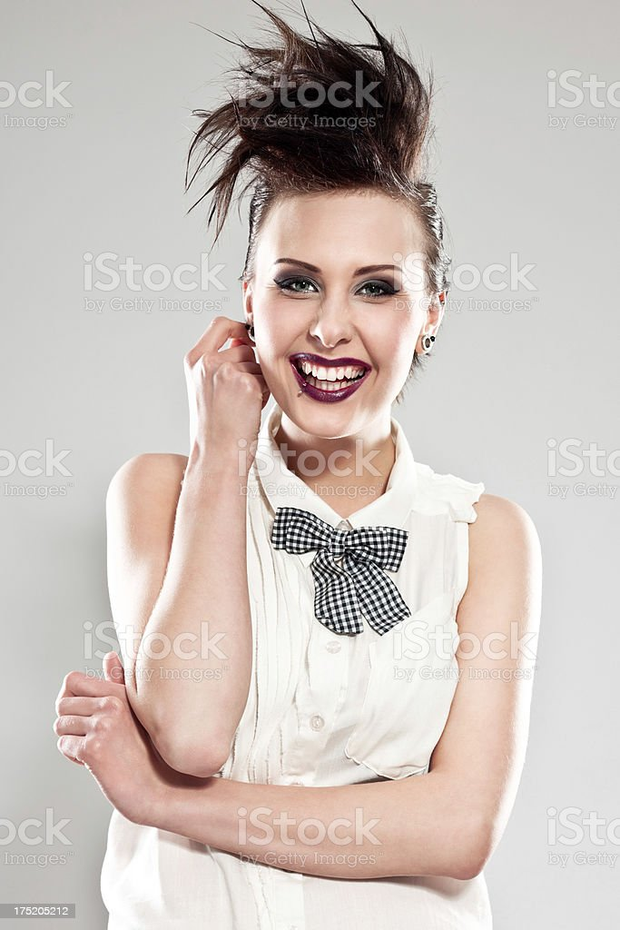Punk Girl, portrait stock photo