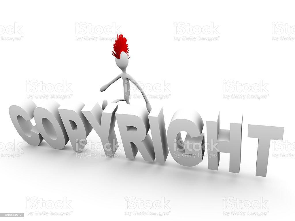 Punk kicking copyright royalty-free stock photo