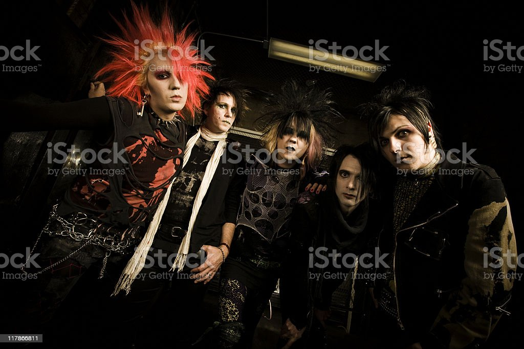 Punk Rock and Roll Band royalty-free stock photo