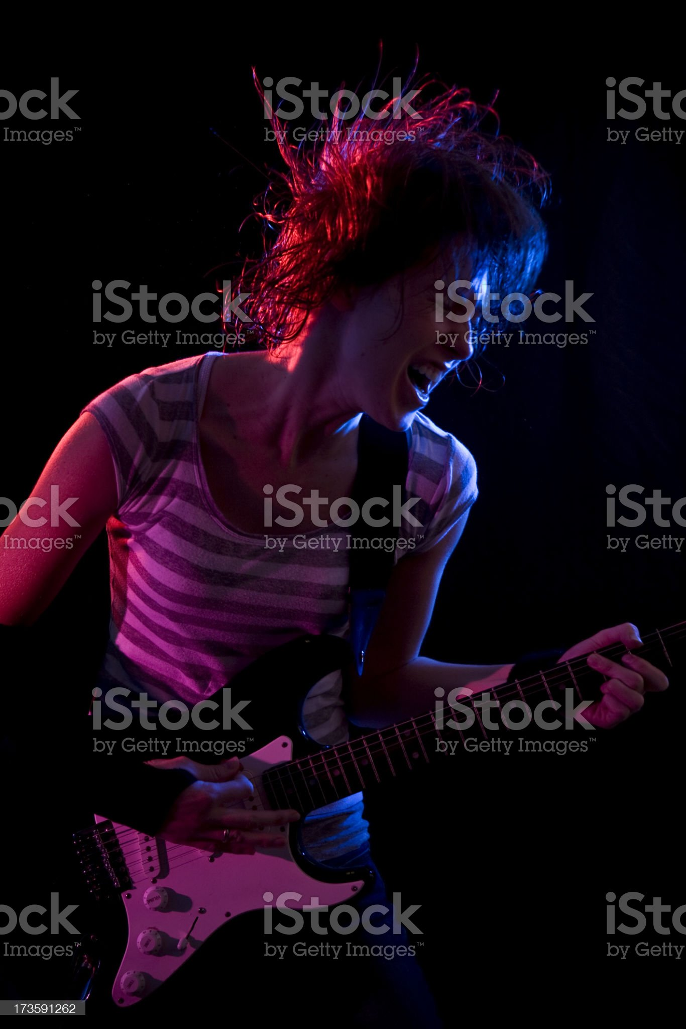 Punk Rock Star Girl royalty-free stock photo