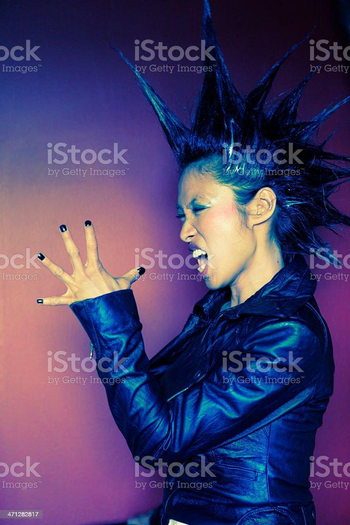 Punk Scream royalty-free stock photo
