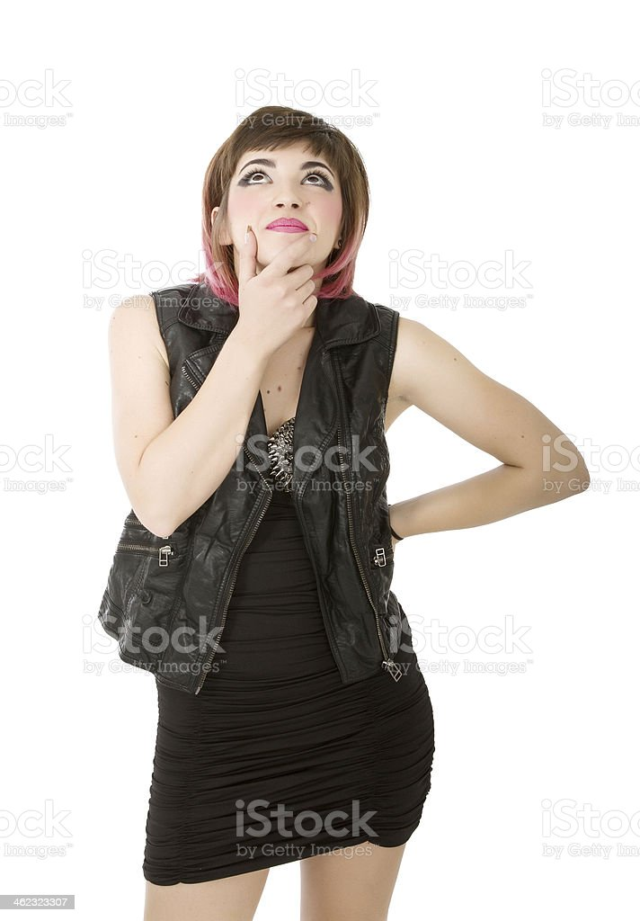 punk woman inspiration stock photo