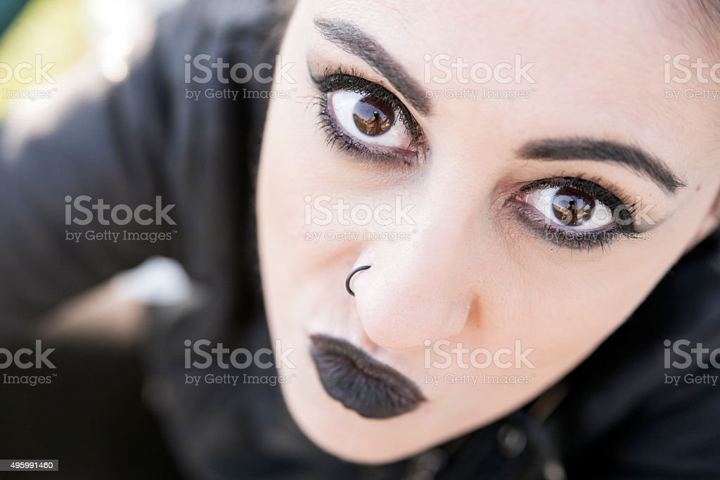 Punk Young girl stock photo