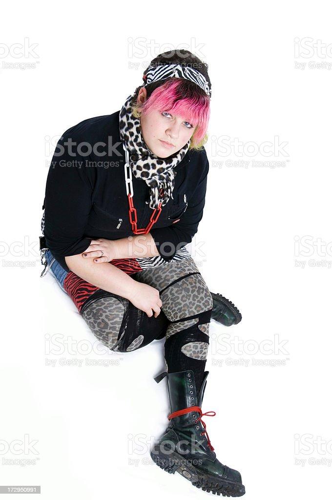 Punker girl royalty-free stock photo