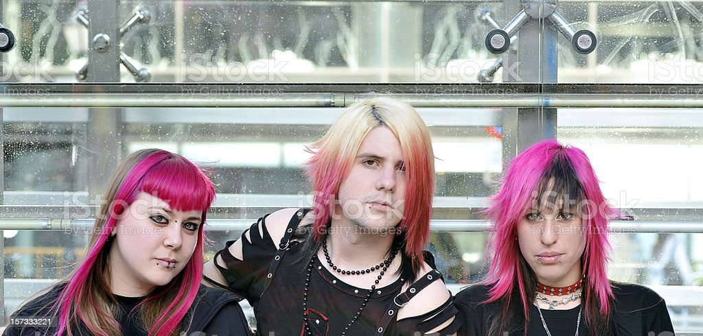 Punk,goth and youth culture stock photo