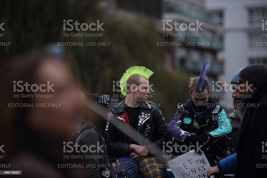 Punks at Camden stock photo