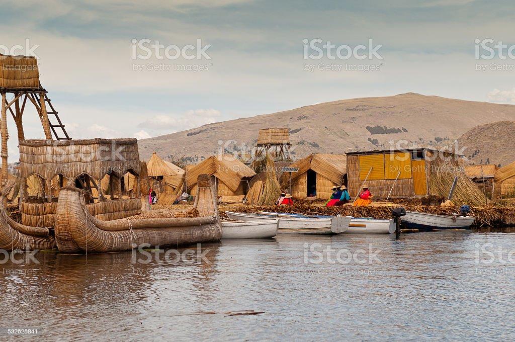 Puno, Titicaca lake stock photo