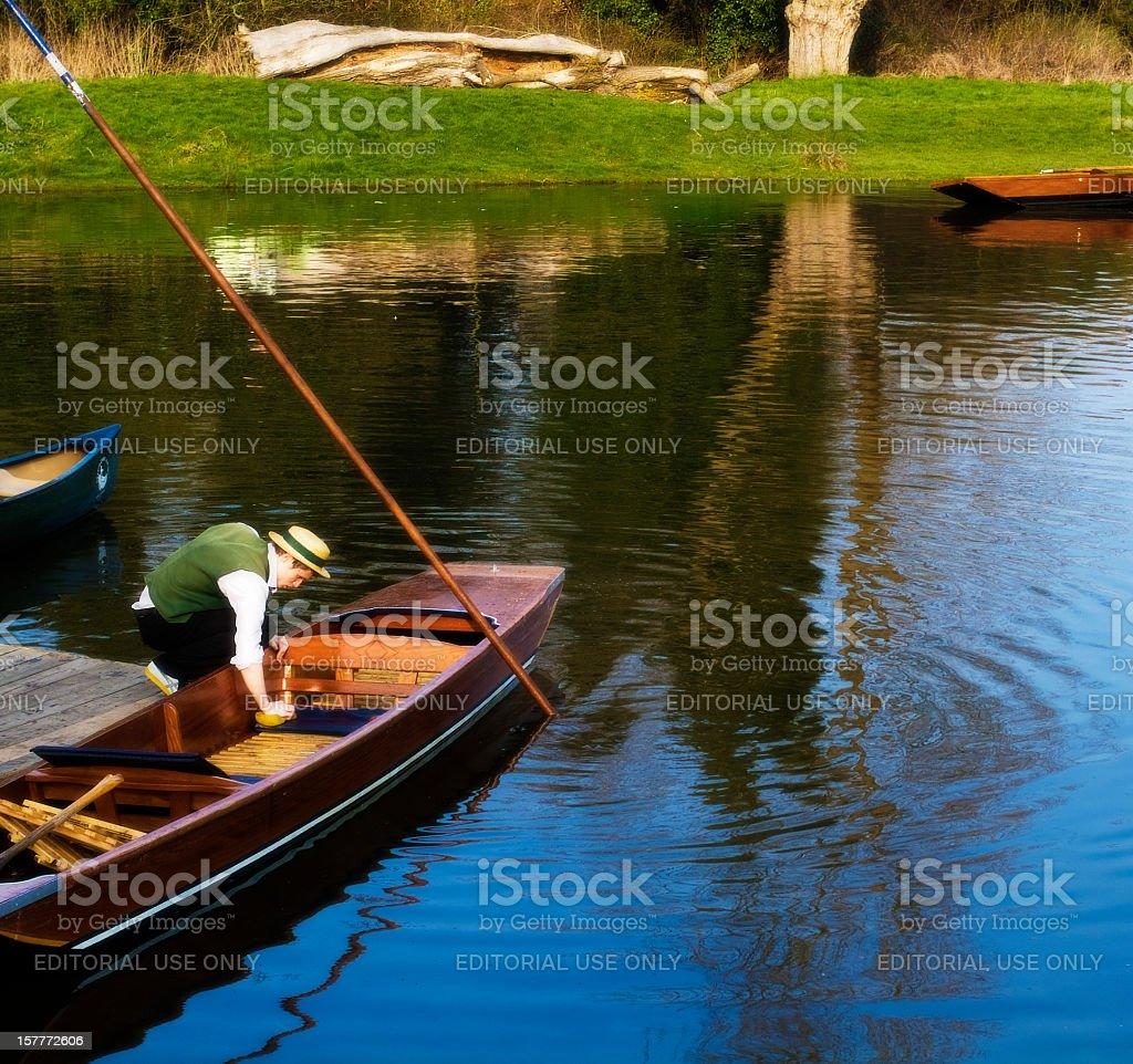Punt boat -Tourism in  Cambridge stock photo