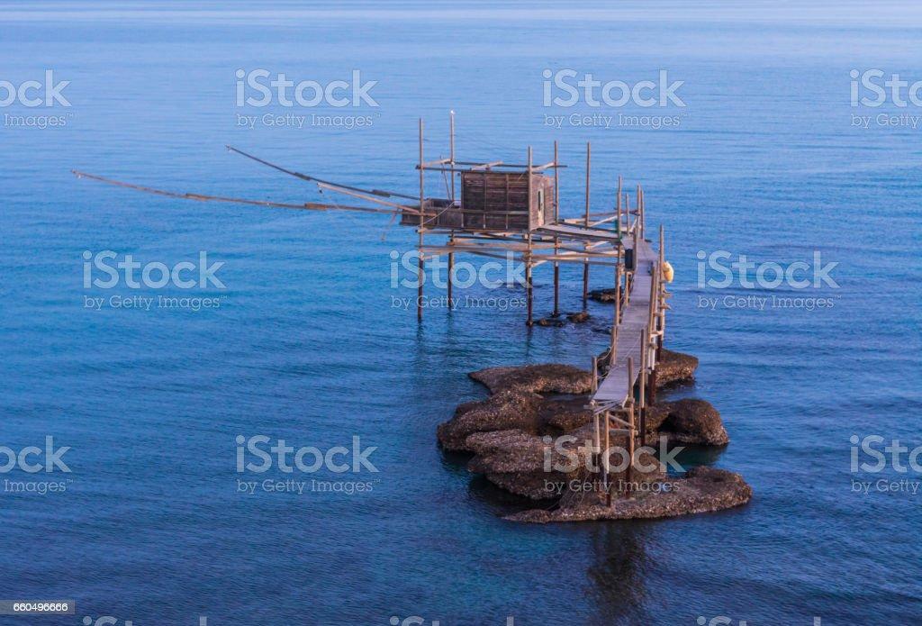 Punta Aderci, Vasto - Trabocchi Coast in the Abruzzo region (Italy) stock photo