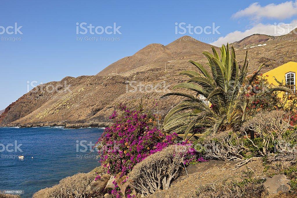 Punta de la Caleta, El Hierro stock photo