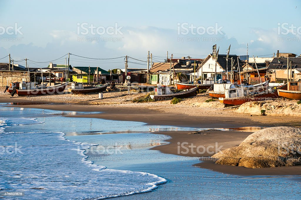 Punta del Diablo Beach, Uruguay Coast stock photo