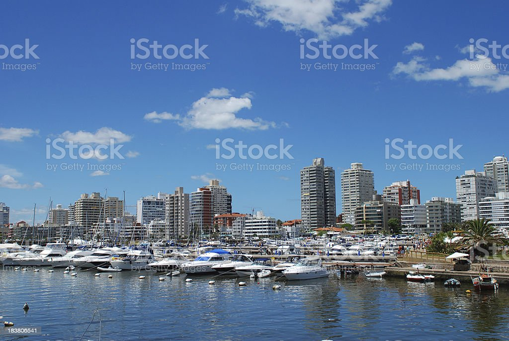 Punta del Este's - Sport Yachts Marina stock photo