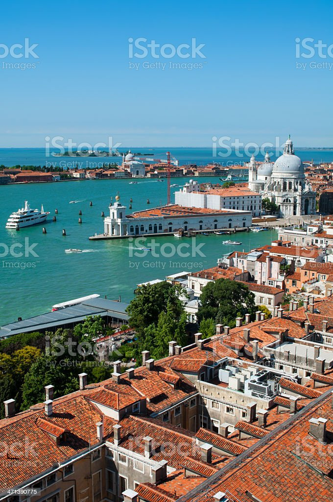 Punta Dogana and basilica Santa Maria della Salute.Venice.Italy. stock photo
