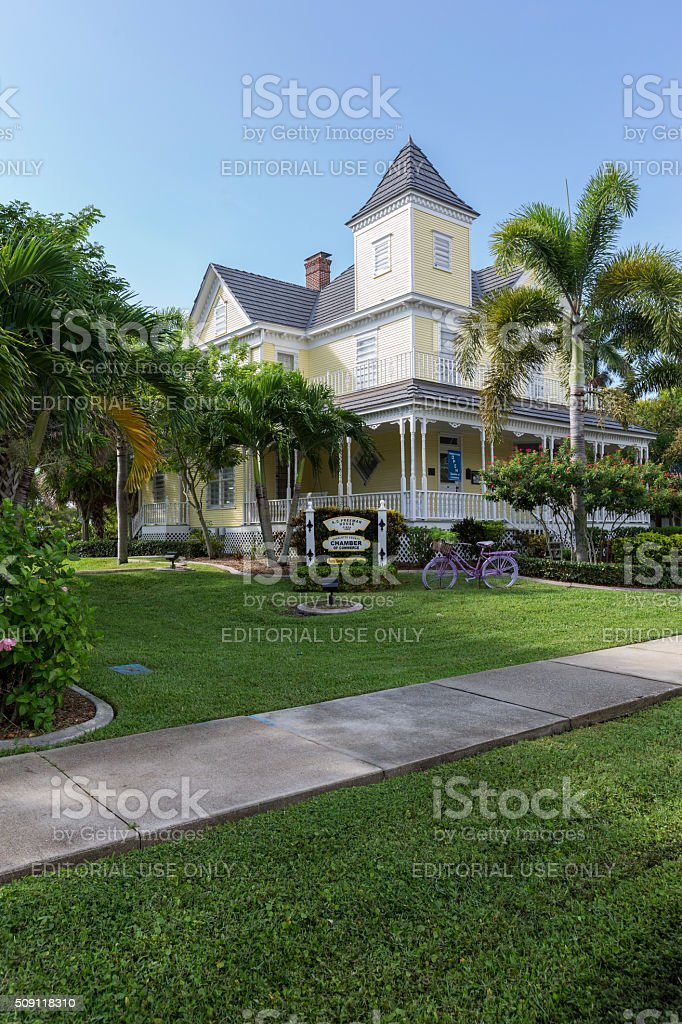 Punta Gorda Chamber of Commerce Building on a Clear Day stock photo