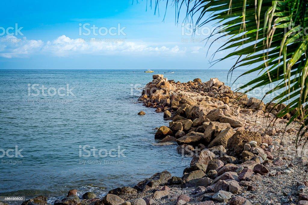 Punta mita breakwater stock photo