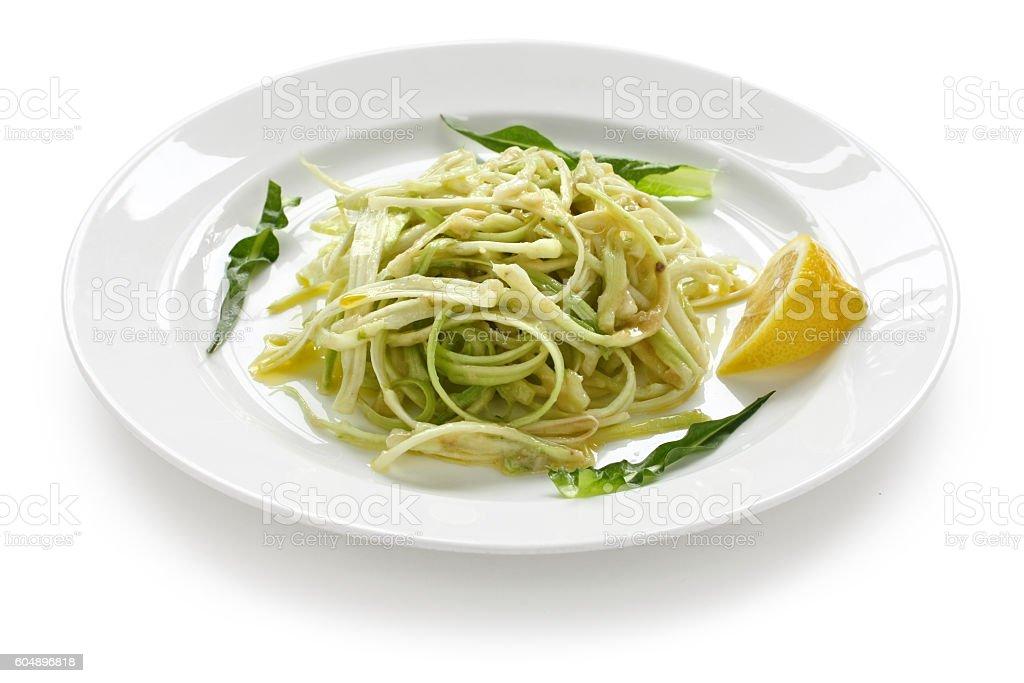 puntarelle alla romana, italian food stock photo