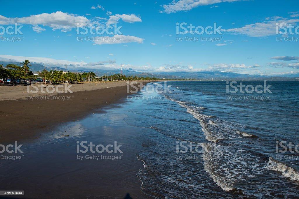 Puntarenas Beach in Costa Rica stock photo