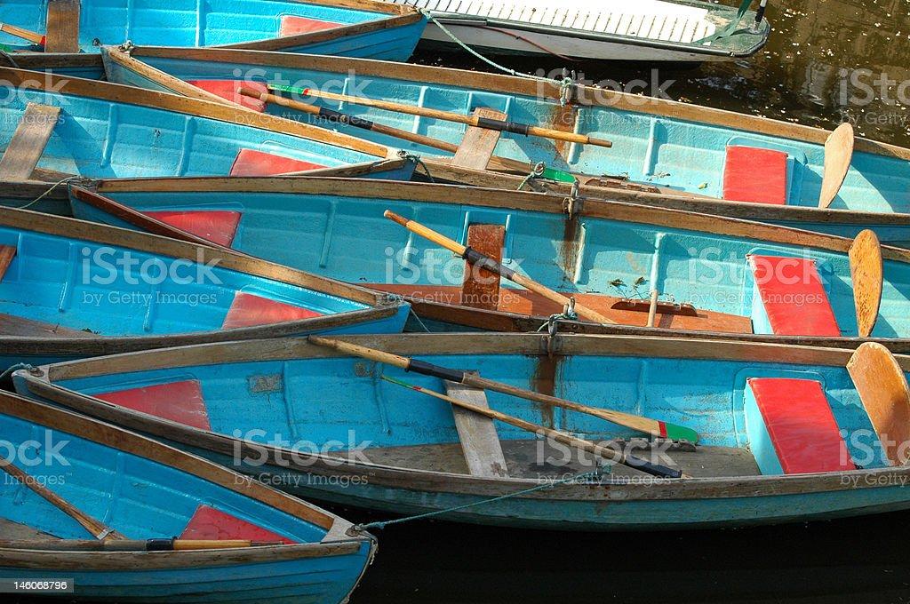 Punting boats royalty-free stock photo