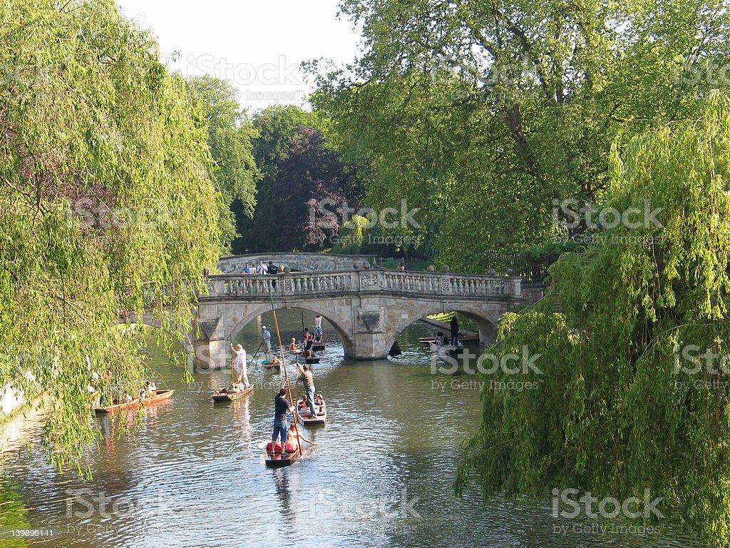 Punting, Cambridge stock photo