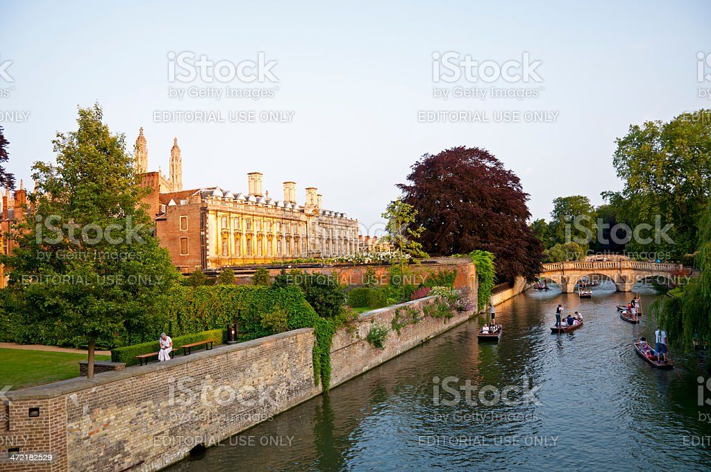 Punting On The Cam royalty-free stock photo