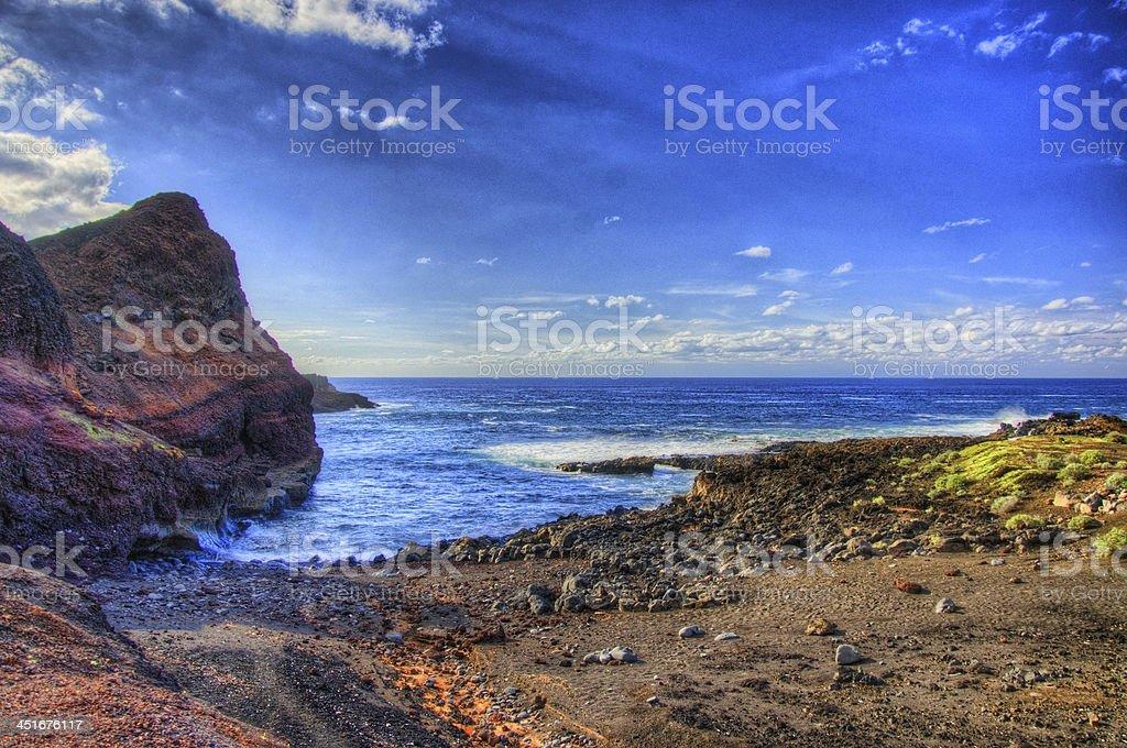 Punto Teno Lighthouse in north-west coast of Tenerife stock photo