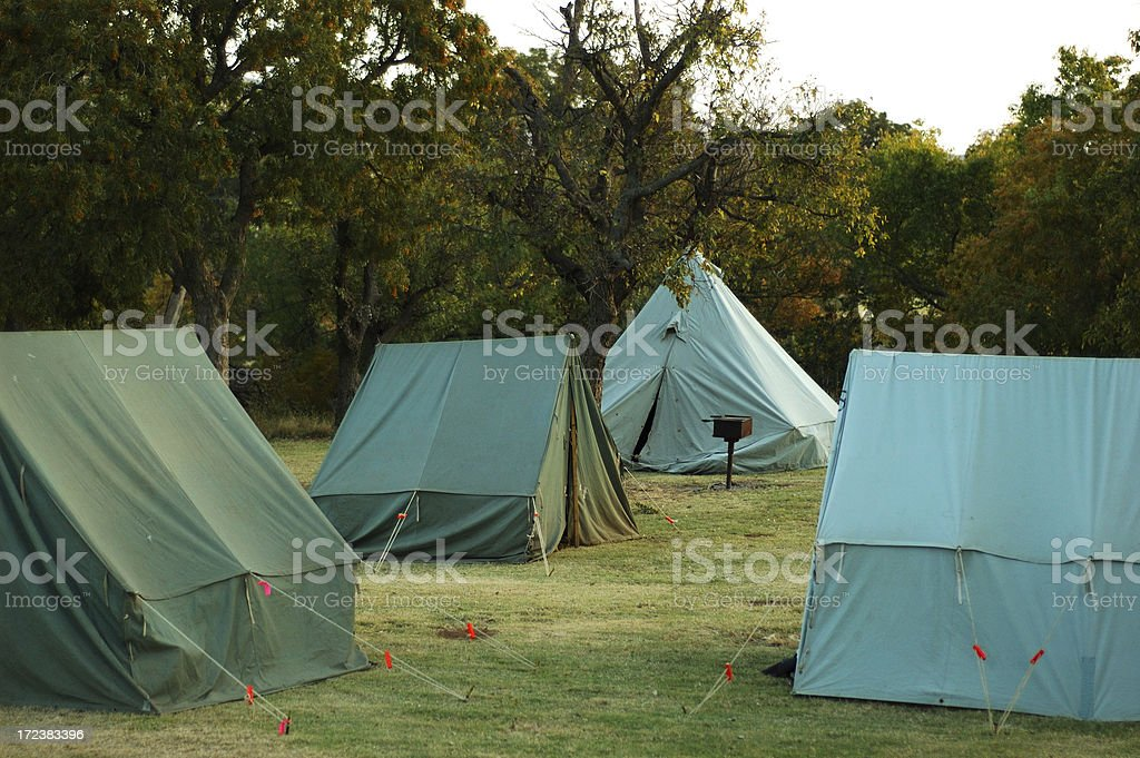 Pup Tents stock photo