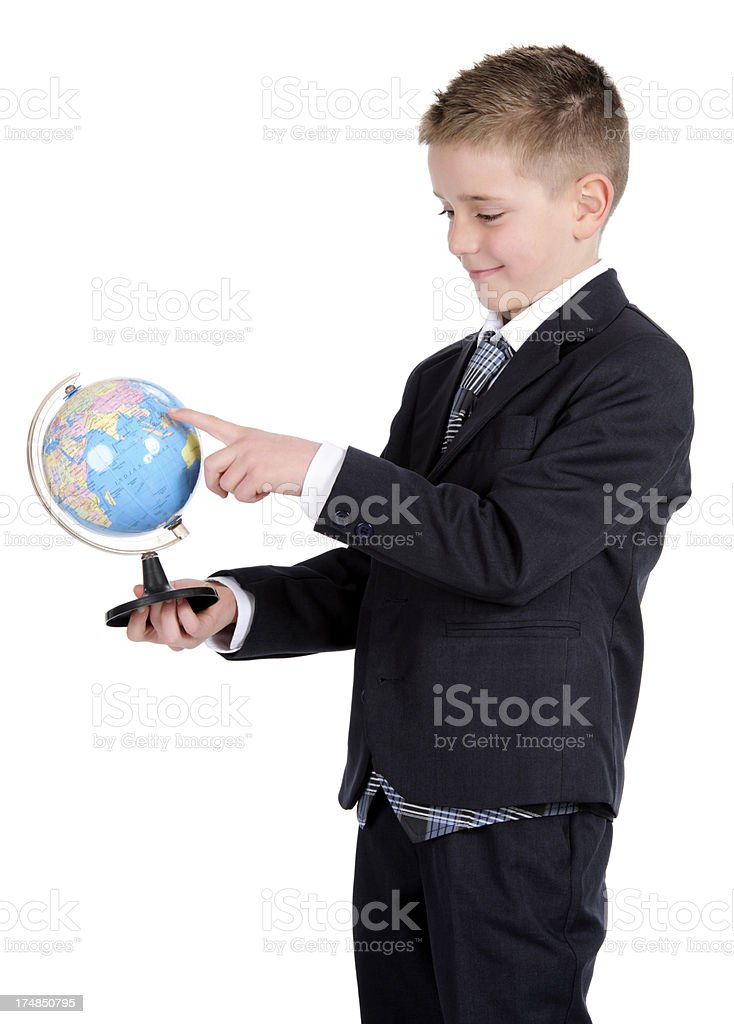pupil with earth globe royalty-free stock photo