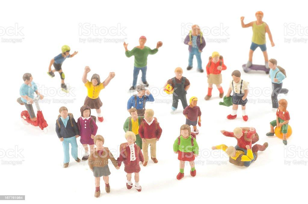 Pupils - Schülerfiguren Spielzeug stock photo