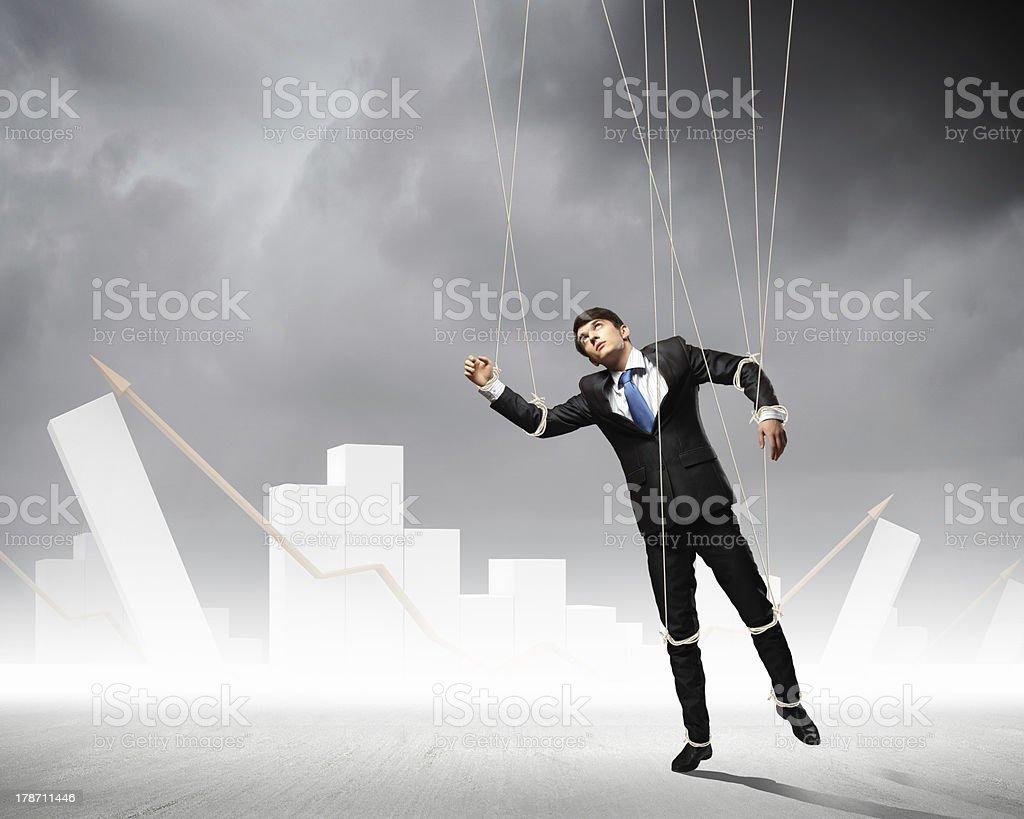 Puppet businessman stock photo
