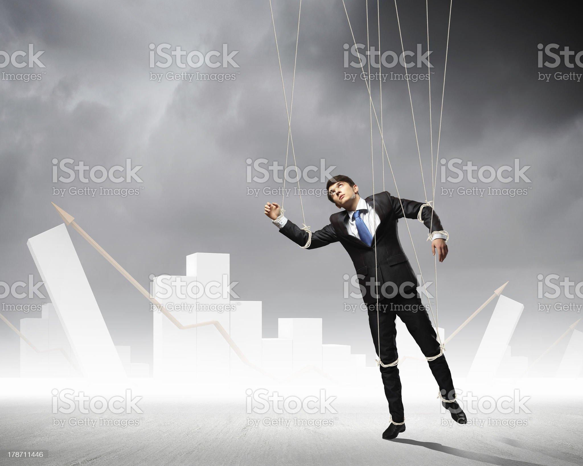 Puppet businessman royalty-free stock photo