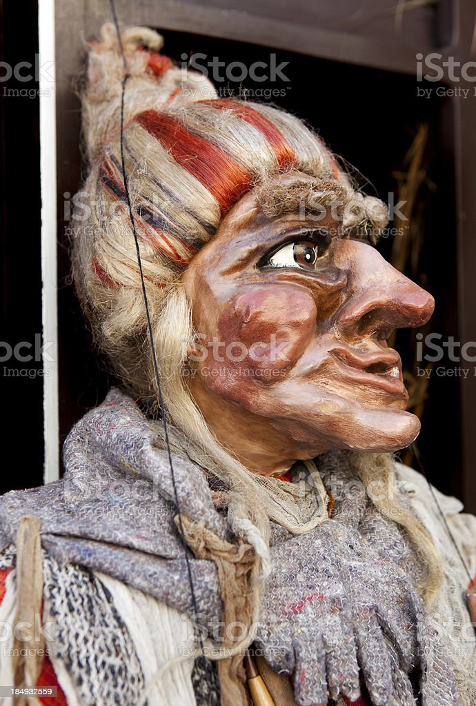 Puppet Close Up royalty-free stock photo